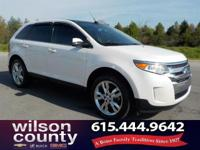 2013 Ford Edge Limited 3.5L V6 Ti-VCT White Platinum