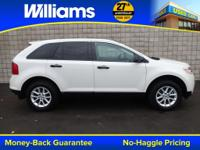 Options:  2013 Ford Edge Se|White|Clean Vehicle History