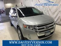 Silver 2013 Ford Edge SEL AWD 6-Speed Automatic with