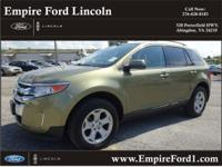 Options:  2013 Ford Edge Sel|Awd Sel 4Dr Suv|3.5L|6