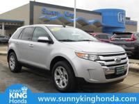 Options:  2013 Ford Edge Sel|Silver|Recent Arrival!