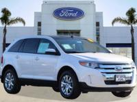 Options:  2013 Ford Edge Sel|White Platinum Tri-Coat