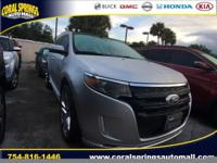 Options:  2013 Ford Edge Sport|Silver|Coral Springs