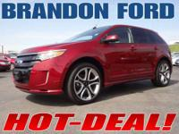 THIS FORD EDGE SPORT IN RUBY RED METALLIC IS ON SALE