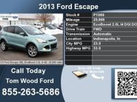 Call Tom Wood Ford at  Stock #: P1066 Year: 2013 Make: