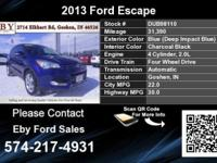 Call Eby Ford Sales at  Stock #: DUB98110 Year: 2013