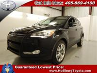 Black 2013 Ford Escape Titanium FWD 6-Speed Automatic