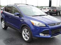 Clean CARFAX. Blue 2013 Ford Escape Titanium FWD