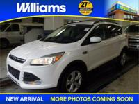 Options:  2013 Ford Escape Se|White|Usb Port And Clean