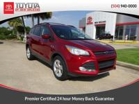 Clean CARFAX. Red 2013 Ford Escape SE PREMIER CERTIFIED
