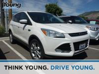 Oxford White 2013 Ford Escape SEL AWD 6-Speed Automatic