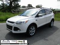 CARFAX One-Owner. White 2013 Ford Escape SEL FWD