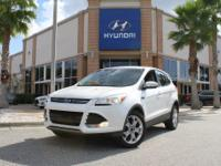 Clean CARFAX. Oxford White 2013 Ford Escape SEL FWD
