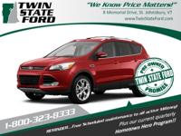 Red 2013 Ford Escape Titanium AWD 6-Speed Automatic