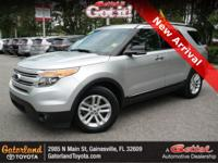 Silver 2013 Ford Explorer XLT FWD 6-Speed Automatic