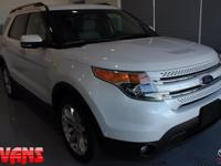 CARFAX One-Owner. WHITE 2013 Ford Explorer Limited AWD