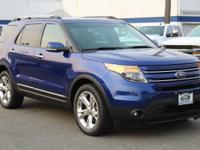 Blue 2013 Ford Explorer Limited AWD 6-Speed Automatic