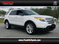 Explorer XLT, AWD, and White. Get ready to ENJOY!