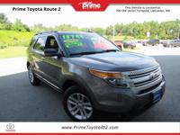 New Price! 2013 Ford Explorer XLT in Gray. AWD. Priced