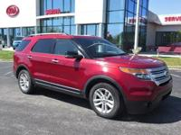 Ruby Red Metallic 2013 Ford Explorer XLT FWD 6-Speed