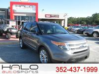 2013 FORD EXPLORER XLT WITH 3RD ROW SEATS LEATHER AND