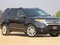 Clean CARFAX. Black 2013 Ford Explorer XLT FWD 6-Speed