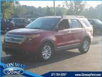 Ruby Red 2013 Ford Explorer XLT FWD 6-Speed Automatic
