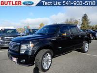 Black 2013 Ford F-150 4WD 6-Speed Automatic Electronic
