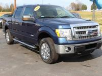 Clean CARFAX. This 2013 Ford F-150 XLT in Blue Jeans