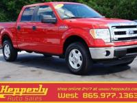 Clean CARFAX. This 2013 Ford F-150 XLT in Race Red
