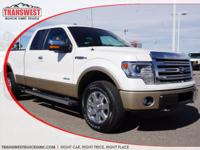 Options:  2013 Ford F-150 Lariat|White|Tan Leather|This