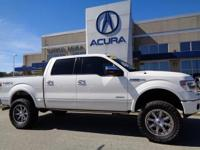 2013 Ford F-150 Platinum in White, *ONE OWNER*, *NO