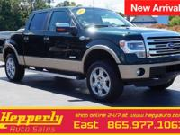Clean CARFAX. This 2013 Ford F-150 King Ranch in Green