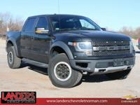 Clean CARFAX. Tuxedo Black Metallic 2013 Ford F-150 SVT