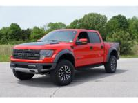 Exterior Color: race red, Body: 4x4 SVT Raptor 4dr