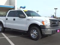 Clean CARFAX. White 2013 Ford F-150 4WD 6-Speed