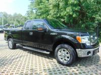CARFAX One-Owner. Black 2013 Ford F-150 XLT 4WD 6-Speed