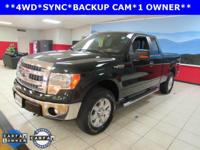 ONE OWNER, BACKUP CAM, and SYNC. F-150 XLT, 5.0L V8