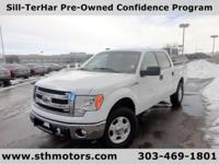 Our 2013 Ford F-150 XLT SuperCrew 4x4 shown in White is