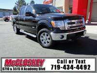 ONE OWNER, 2013 Ford F-150 XLT! 4WD, Super Crew, Backup