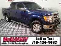 Low miles 2013 Ford F-150 XLT Super Crew offering 4x4,
