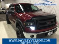 Red 2013 Ford F-150 XLT 4WD 6-Speed Automatic