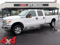 From mountains to mud, this White 2013 Ford Super Duty
