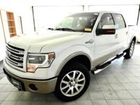 White Platinum Metallic Tri-Coat 2013 Ford F-150 King