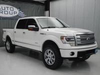 2013 FORD F150 PLATINUM: PEARL WHITE/ BLACK RUGGED and