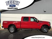 New Price! Vermillion Red 2013 Ford F-350SD Lariat 4WD
