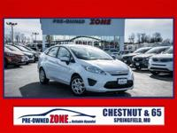 2013 Ford Fiesta S in Oxford White With Black and Gray