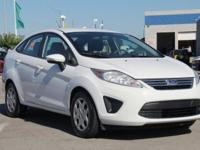 CARFAX One-Owner. White 2013 Ford Fiesta SE FWD 5-Speed