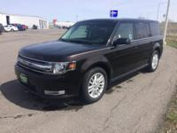 Black 2013 Ford Flex SEL FWD 6-Speed Automatic with