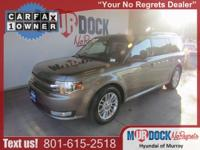 CARFAX One-Owner. Gray 2013 Ford Flex SEL AWD 6-Speed
